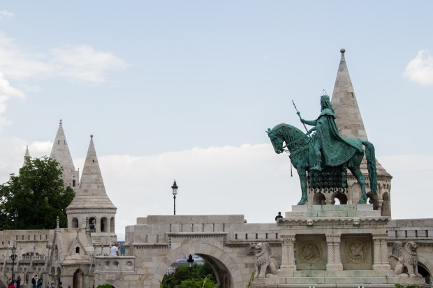 A first glimpse at the Fisherman's Bastion.