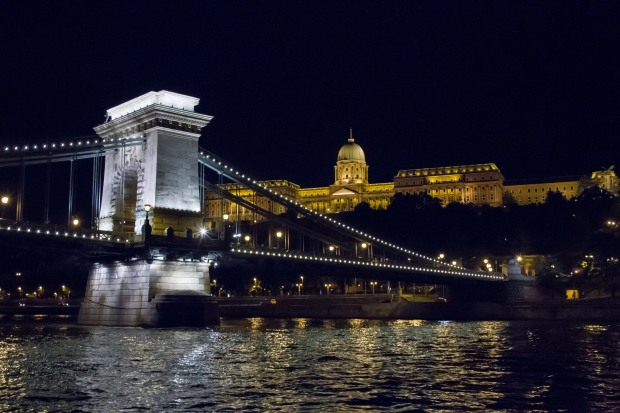 The Chain Bridge and Buda Castle.